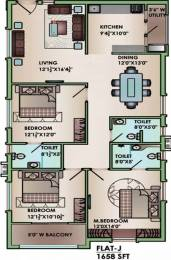 1658 sqft, 3 bhk Apartment in Jain Auroville Hitech City, Hyderabad at Rs. 1.1500 Cr