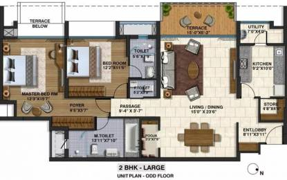 1701 sqft, 2 bhk Apartment in Lodha Belmondo Gahunje, Pune at Rs. 14000