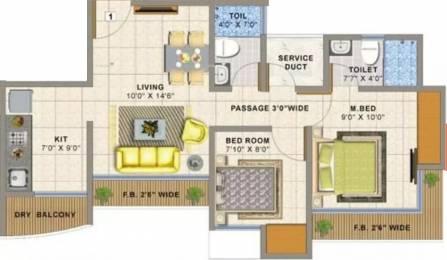 995 sqft, 2 bhk Apartment in Sai Balaji Atlanta Edenworld Bhiwandi, Mumbai at Rs. 9500