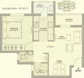 657 sqft, 1 bhk Apartment in TATA Ariana Kalinga Nagar, Bhubaneswar at Rs. 32.0000 Lacs