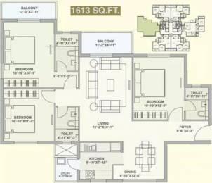 1613 sqft, 3 bhk Apartment in TATA Ariana Kalinga Nagar, Bhubaneswar at Rs. 83.8760 Lacs