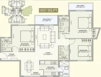 1637 sqft, 3 bhk Apartment in TATA Ariana Kalinga Nagar, Bhubaneswar at Rs. 85.1240 Lacs