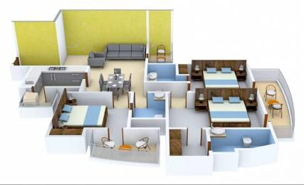 1785 sqft, 3 bhk Apartment in Chintels Paradiso Sector 109, Gurgaon at Rs. 15000