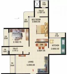 1120 sqft, 2 bhk Apartment in Bhoomi Maple Hills Kharghar, Mumbai at Rs. 93.0000 Lacs