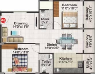 1215 sqft, 2 bhk Apartment in Purvi Mithila Marathahalli, Bangalore at Rs. 30000