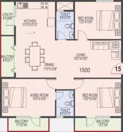 1500 sqft, 3 bhk Apartment in SLS Square Brookefield, Bangalore at Rs. 29000