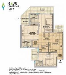 1375 sqft, 3 bhk Apartment in Gaursons Gaur Yamuna City Sector 19 Yamuna Expressway, Noida at Rs. 29.9800 Lacs