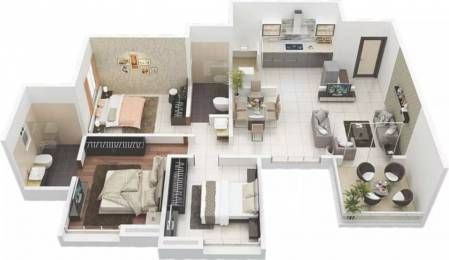 1235 sqft, 3 bhk Apartment in Rainbow Revell Orchid Lohegaon, Pune at Rs. 17000