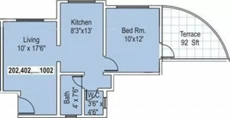 625 sqft, 1 bhk Apartment in Raojee Palladium Homes Dhanori, Pune at Rs. 14000