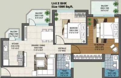 1099 sqft, 2 bhk Apartment in Rishita Manhattan Gomti Nagar Extension, Lucknow at Rs. 37.3660 Lacs
