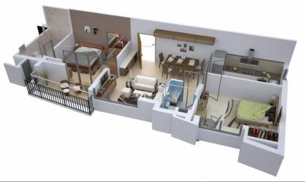 1075 sqft, 2 bhk Apartment in Belani Zest Rajarhat, Kolkata at Rs. 44.6125 Lacs