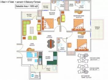 1650 sqft, 3 bhk Apartment in La Residentia Pvt Ltd La Residentia Techzone 4, Greater Noida at Rs. 56.1000 Lacs