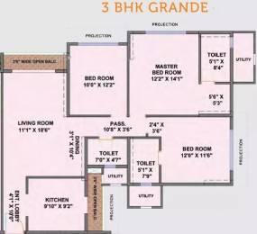 1680 sqft, 3 bhk Apartment in Ekta Tripolis Goregaon West, Mumbai at Rs. 2.7000 Cr