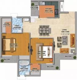 1450 sqft, 2 bhk Apartment in MI Rustle Court Gomti Nagar, Lucknow at Rs. 20000