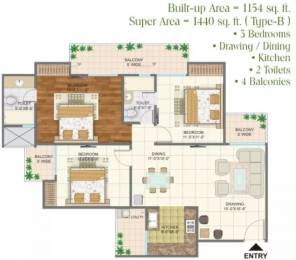 1154 sqft, 3 bhk Apartment in Arihant Arden Sector 1 Noida Extension, Greater Noida at Rs. 42.6980 Lacs