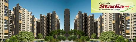 1495 sqft, 3 bhk Apartment in Civitech Stadia Sector 79, Noida at Rs. 71.7600 Lacs