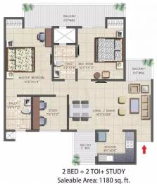 1180 sqft, 2 bhk Apartment in Nirala Aspire Sector 16 Noida Extension, Greater Noida at Rs. 40.6000 Lacs