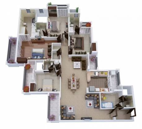 2890 sqft, 4 bhk Apartment in Civitech Stadia Sector 79, Noida at Rs. 1.3800 Cr