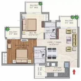 1074 sqft, 2 bhk Apartment in Aditya Urban Casa Sector 78, Noida at Rs. 14000