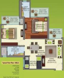 960 sqft, 2 bhk Apartment in Mahagun My Woods Sector 16C Noida Extension, Greater Noida at Rs. 40.0000 Lacs