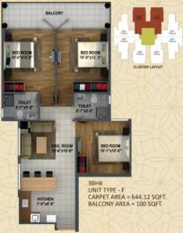 837 sqft, 3 bhk Apartment in  Ananda Sector 95, Gurgaon at Rs. 29.0000 Lacs