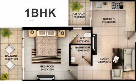425 sqft, 1 bhk Apartment in Tulsiani Easy in Homes Sector 35 Sohna, Gurgaon at Rs. 14.0000 Lacs