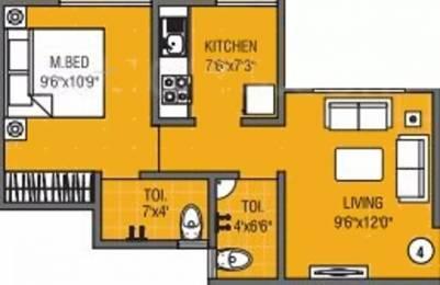 614 sqft, 1 bhk Apartment in JP Symphony Ambernath East, Mumbai at Rs. 20.2620 Lacs