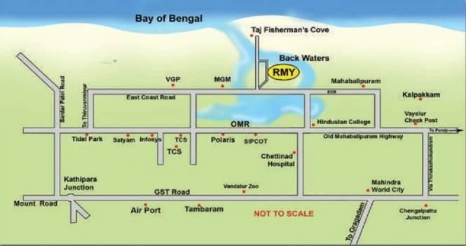 1800 sqft, Plot in Right RMY Residency Thiruvidandhai, Chennai at Rs. 40.0000 Lacs