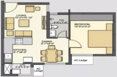 610 sqft, 1 bhk Apartment in Galaxy Group Vineet Bavdhan, Pune at Rs. 52.0000 Lacs