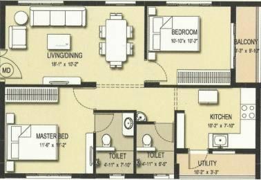 990 sqft, 2 bhk Apartment in Trident Galaxy Kalinga Nagar, Bhubaneswar at Rs. 40.0000 Lacs