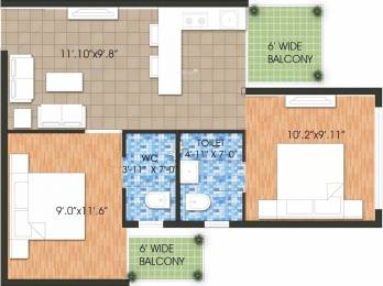 587 sqft, 2 bhk Apartment in Raheja Krishna Housing Scheme Sector 1 Sohna, Gurgaon at Rs. 16.0000 Lacs