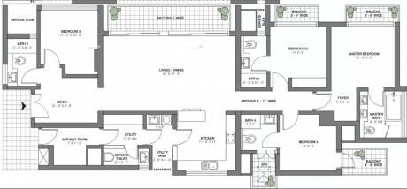 2905 sqft, 4 bhk Apartment in TATA Primanti Sector 72, Gurgaon at Rs. 60000