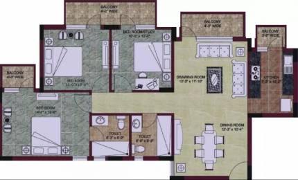 1360 sqft, 3 bhk Apartment in BPTP Park Prime Sector 66, Gurgaon at Rs. 32000