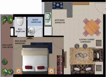 950 sqft, 1 bhk Apartment in Breez Global Heights Sector 33 Sohna, Gurgaon at Rs. 15.2000 Lacs