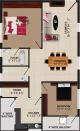 1231 sqft, 2 bhk Apartment in Parkville Lakshmi Nilayam Syamala Nagar, Guntur at Rs. 37.0000 Lacs