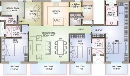 2974 sqft, 3 bhk Apartment in TATA Raisina Residency Sector 59, Gurgaon at Rs. 45000