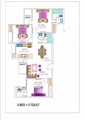 1500 sqft, 3 bhk Apartment in Today Homes Kings Park Omega, Greater Noida at Rs. 46.5000 Lacs