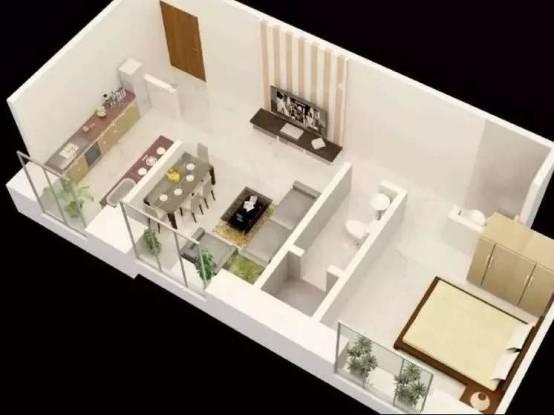766 sqft, 1 bhk Apartment in Mantri Serene Goregaon East, Mumbai at Rs. 94.0000 Lacs