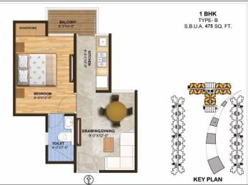 475 sqft, 1 bhk Apartment in Builder Project Jaipur Ajmer Expressway, Jaipur at Rs. 14.0000 Lacs