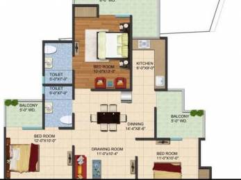 1340 sqft, 3 bhk Apartment in Builder Project Noida Extension, Greater Noida at Rs. 45.0000 Lacs