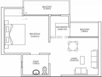 585 sqft, 1 bhk Apartment in Antriksh Galaxy Zone L Dwarka, Delhi at Rs. 20.9000 Lacs