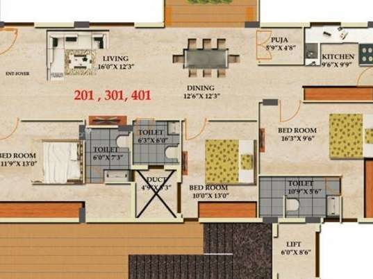 2215 sqft, 3 bhk Apartment in Builder Luxuria y Malleswaram, Bangalore at Rs. 2.9801 Cr