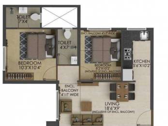 750 sqft, 2 bhk Apartment in Neptune Ramrajya Neptune Ekansh D Ambivali, Mumbai at Rs. 24.6000 Lacs