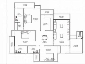 2040 sqft, 3 bhk Apartment in Antriksh Galaxy Zone L Dwarka, Delhi at Rs. 71.7500 Lacs