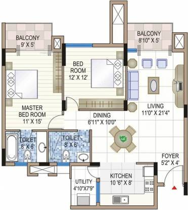 1326 sqft, 2 bhk BuilderFloor in Builder Project Sector 4, Gurgaon at Rs. 14000