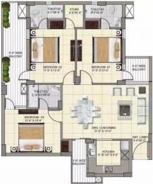 1650 sqft, 3 bhk Apartment in APS Highland Park Bhabat, Zirakpur at Rs. 51.8100 Lacs