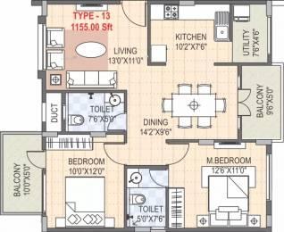 1155 sqft, 2 bhk Apartment in SLV Flora Horamavu, Bangalore at Rs. 34.5000 Lacs