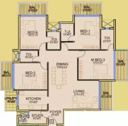 2212 sqft, 4 bhk Apartment in Dhoot Time Residency Sector 63, Gurgaon at Rs. 40000