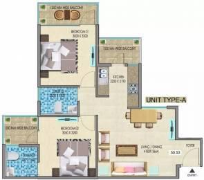 707 sqft, 2 bhk Apartment in Mahira Homes Sector 68, Gurgaon at Rs. 22.2489 Lacs
