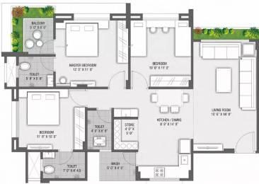 1600 sqft, 3 bhk Apartment in Rajhans Orange Palanpur, Surat at Rs. 12000